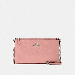 ZIP TOP CROSSBODY - SV/LIGHT BLUSH - COACH 88682
