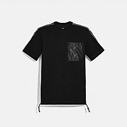 HORSE AND CARRIAGE POCKET T-SHIRT - BLACK - COACH 88699