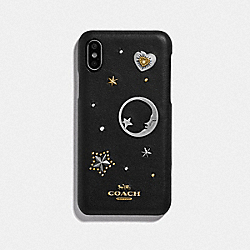 IPHONE X/XS CASE WITH SOUVENIR PINS - BLACK - COACH 88742