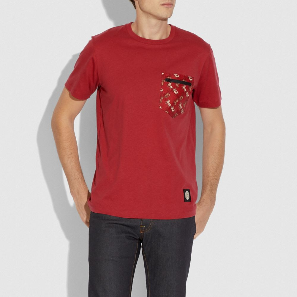 루나 뉴 이어 나일론 디테일 티셔츠