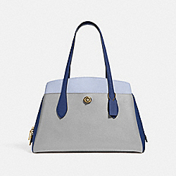 LORA CARRYALL IN COLORBLOCK - GM/GRANITE MULTI - COACH 89086