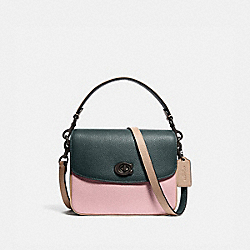 CASSIE CROSSBODY 19 IN COLORBLOCK - V5/PNE GRN AURORA MULTI - COACH 89088