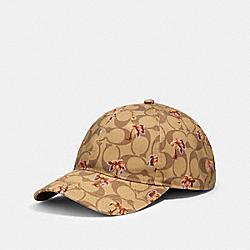 HAT IN SIGNATURE DITSY PALM PRINT - KHAKI - COACH 89107