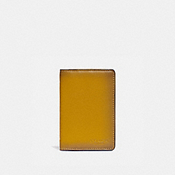 CARD WALLET IN COLORBLOCK WITH SIGNATURE CANVAS DETAIL - KHAKI/FLAX - COACH 89207