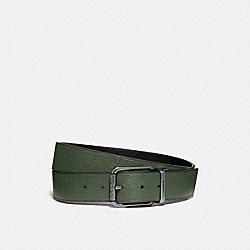 ROLLER BUCKLE CUT-TO-SIZE REVERSIBLE BELT, 38MM - LEAF/BLACK - COACH 89276