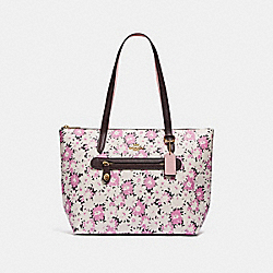 TAYLOR TOTE WITH DAISY PRINT - GD/CHALK - COACH 89473