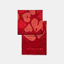 COACH HEARTS PRINT SHAWL - JASPER - COACH 89589