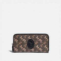 ACCORDION ZIP WALLET WITH HORSE AND CARRIAGE PRINT AND ARCHIVE PATCH - V5/BROWN BLACK - COACH 89611
