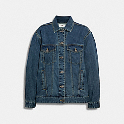 SIGNATURE RELAXED DENIM JACKET - DENIM - COACH 89626
