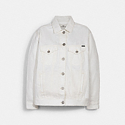 SIGNATURE RELAXED DENIM JACKET - WHITE - COACH 89626