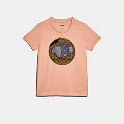 DISNEY X COACH DUMBO SIGNATURE T-SHIRT - ROSECLOUD - COACH 89633