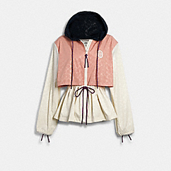 SIGNATURE SPORTY JACKET - CREAM MULTI - COACH 89635