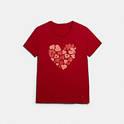 COACH HEART T-SHIRT - RED - COACH 89638