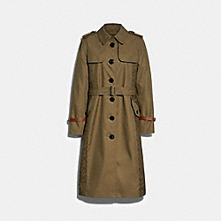SIGNATURE PANEL TRENCH - LAUREL GREEN - COACH 89640