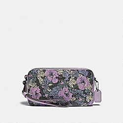 KIRA CROSSBODY WITH HERITAGE FLORAL PRINT - V5/SOFT LILAC MULTI - COACH 89661