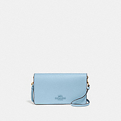 HAYDEN FOLDOVER CROSSBODY CLUTCH - V5/WATERFALL - COACH 89674