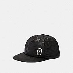 SIGNATURE NYLON TRUCKER HAT - BLACK - COACH 89723