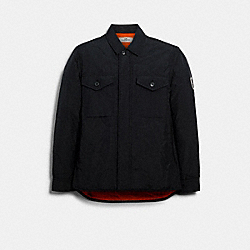 QUILTED SHIRT JACKET - BLACK - COACH 89727