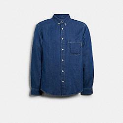 DENIM SHIRT - BLUE - COACH 89737