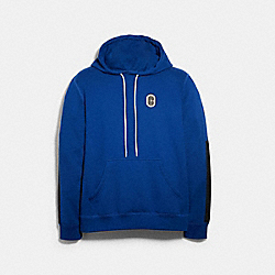 MIXED MEDIA HOODIE - SAPPHIRE - COACH 89747