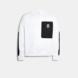 MIXED MEDIA SWEATSHIRT - WHITE - COACH 89748