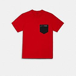 MIXED MEDIA T-SHIRT - HAUTE RED - COACH 89749