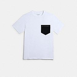 MIXED MEDIA T-SHIRT - WHITE - COACH 89749