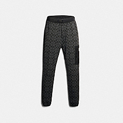 MIXED MEDIA JOGGER - BLACK SIGNATURE - COACH 89787