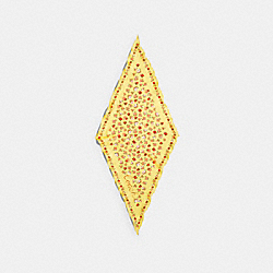 ESSENTIAL TEA ROSE SILK DIAMOND SCARF - DAISY - COACH 89796