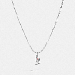 DISNEY X COACH DONALD DUCK NECKLACE - SILVER - COACH 89801