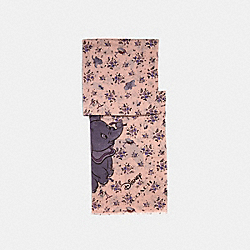DISNEY X COACH DUMBO FLORAL PRINT OBLONG SCARF - BLOSSOM - COACH 89842