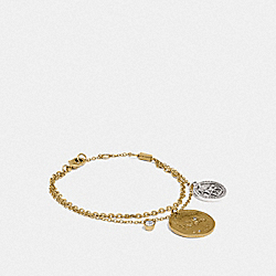 HORSE AND CARRIAGE COIN BRACELET - GOLD/SILVER - COACH 89854