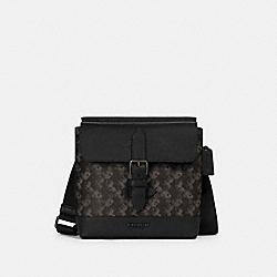 HUDSON CROSSBODY WITH HORSE AND CARRIAGE PRINT - QB/BLACK MULTI - COACH 89891