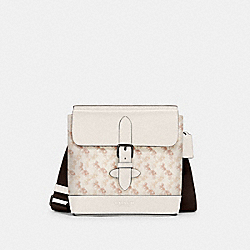 HUDSON CROSSBODY WITH HORSE AND CARRIAGE PRINT - QB/BEIGE TAUPE - COACH 89891
