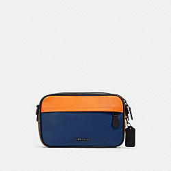 GRAHAM CROSSBODY IN COLORBLOCK SIGNATURE CANVAS - QB/TAN ADMIRAL MULTI - COACH 89899