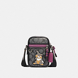 DISNEY X COACH TERRAIN CROSSBODY IN SIGNATURE CANVAS WITH THUMPER - QB/CHARCOAL PLUM MULTI - COACH 89902