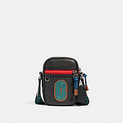 TERRAIN CROSSBODY IN COLORBLOCK WITH WAVY ANIMAL PRINT DETAIL AND COACH PATCH - QB/BLACK MULTI - COACH 89903