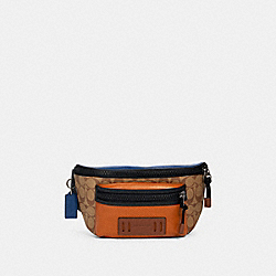 TERRAIN BELT BAG IN COLORBLOCK SIGNATURE CANVAS - QB/TAN BURNT SIENNA MULTI - COACH 89906