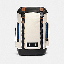 RANGER BACKPACK WITH MOUNTAINEERING DETAIL - QB/CHALK MULTI - COACH 89931
