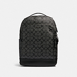 GRAHAM BACKPACK IN SIGNATURE CANVAS - QB/CHARCOAL/BLACK - COACH 89942
