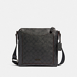 BECKETT POCKET CROSSBODY IN SIGNATURE CANVAS - JI/BLACK/BLACK/OXBLOOD - COACH 89950