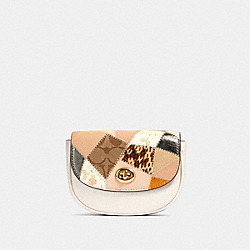 MINI BELT BAG WITH PATCHWORK - IM/CHALK MULTI - COACH 89962