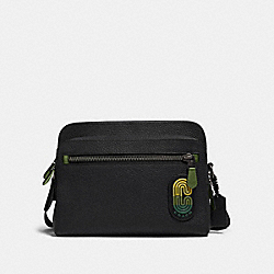 WEST CAMERA BAG IN COLORBLOCK WITH COACH PATCH - QB/BLACK MULTI - COACH 89964