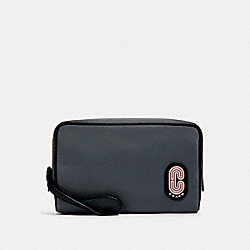 BOXY COSMETIC CASE IN COLORBLOCK - SV/HEATHER GREY MULTI - COACH 89979