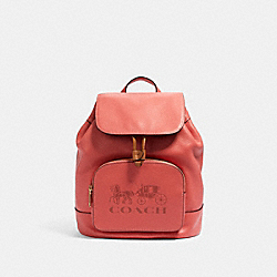 JES BACKPACK - IM/BRIGHT CORAL - COACH 90399