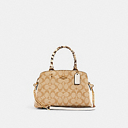 MINI LILLE CARRYALL IN SIGNATURE CANVAS - IM/LIGHT KHAKI MULTI - COACH 90406