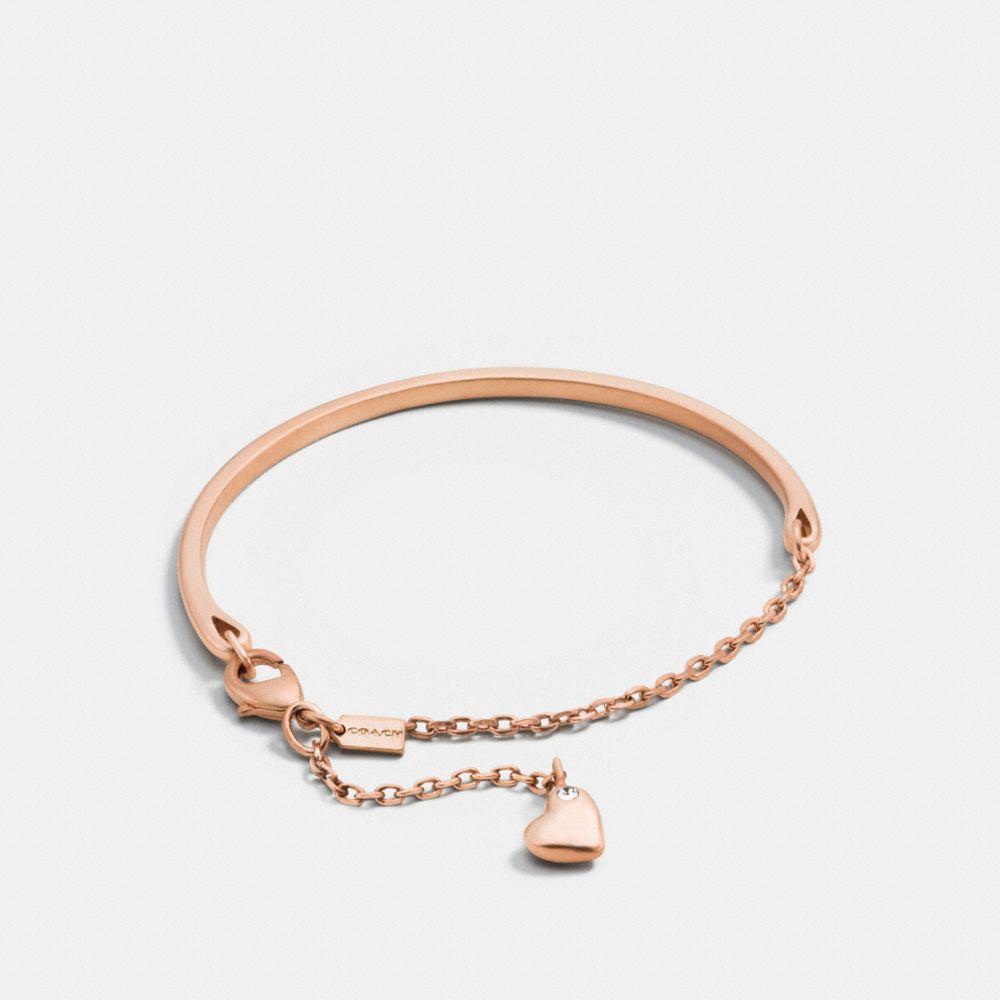 Pave Sculpted Heart Charm Bracelet