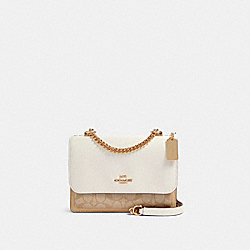 KLARE CROSSBODY IN SIGNATURE CANVAS - IM/LIGHT KHAKI MULTI - COACH 90635