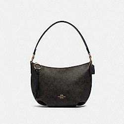 SMALL SKYLAR HOBO IN SIGNATURE CANVAS - IM/BROWN BLACK - COACH 90738