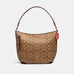 SKYLAR HOBO IN SIGNATURE CANVAS - IM/KHAKI POPPY - COACH 90838